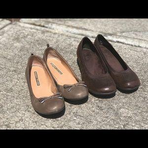 Audrey Brooke Flats sz 8 Soft Style Wedged Flats